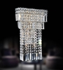 "Picture of 19"" Bossolo Transitional Crystal Rectangular Square Wall Sconce Polished Chrome 5 Lights"