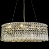 "Picture of 21"" Bossolo Transitional Crystal Oval Pendant Chandelier Polished Chrome 6 Lights"