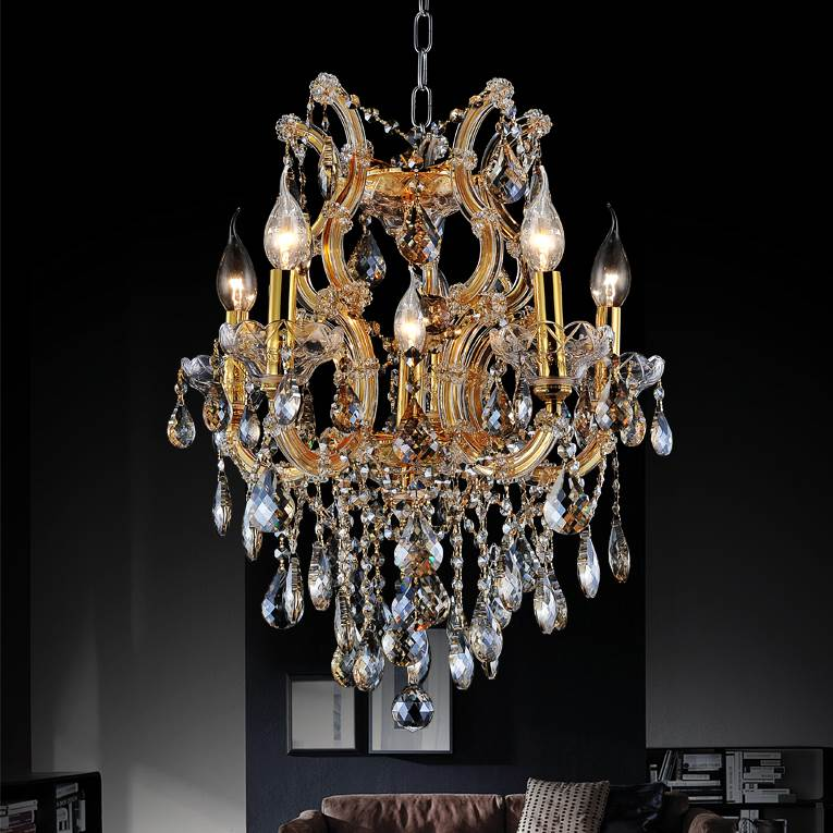 Brizzo lighting stores 22 maria theresa traditional crystal round picture of 22 maria theresa traditional crystal round chandelier gold plated 6 lights aloadofball Image collections