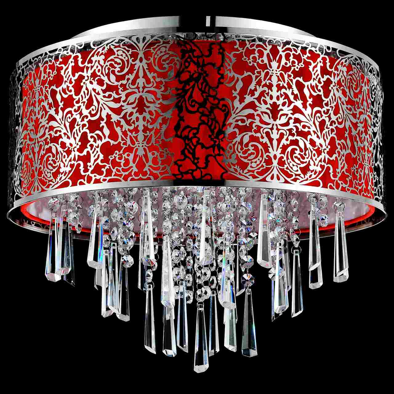 Brizzo Lighting Stores 16 Quot Drago Modern Crystal Round