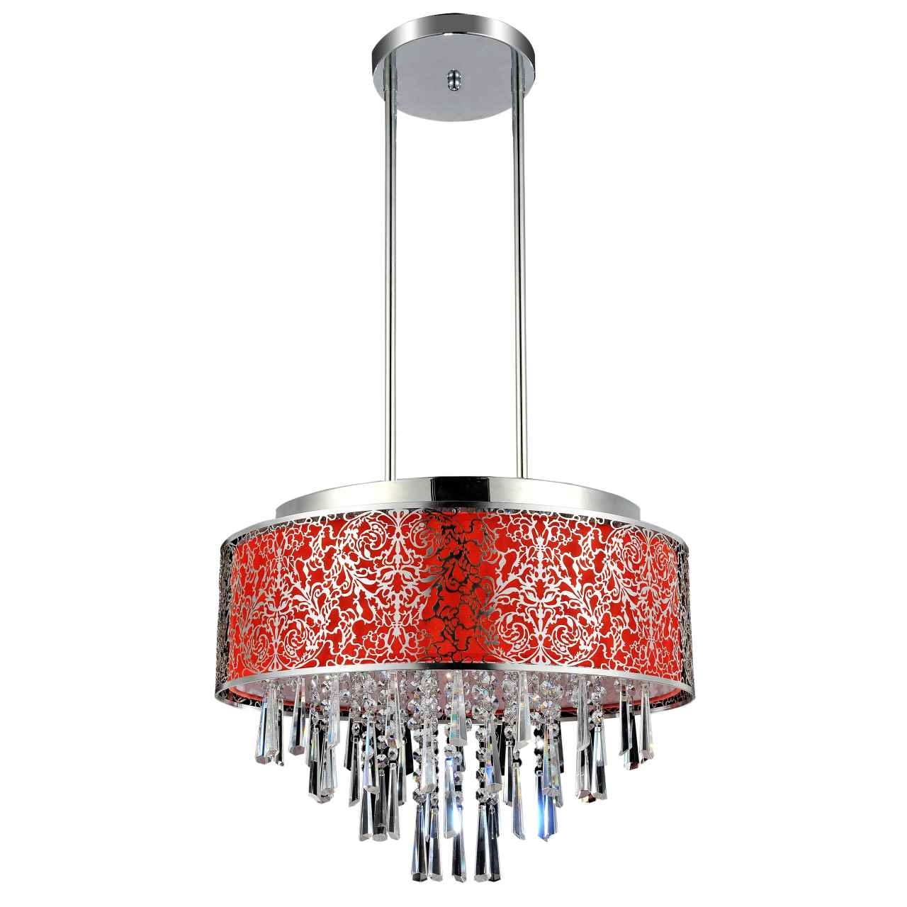 Brizzo lighting stores 20 drago modern crystal round pendant picture of 20 drago modern crystal round pendant chandelier red fabric stainless steel shade 9 mozeypictures Gallery