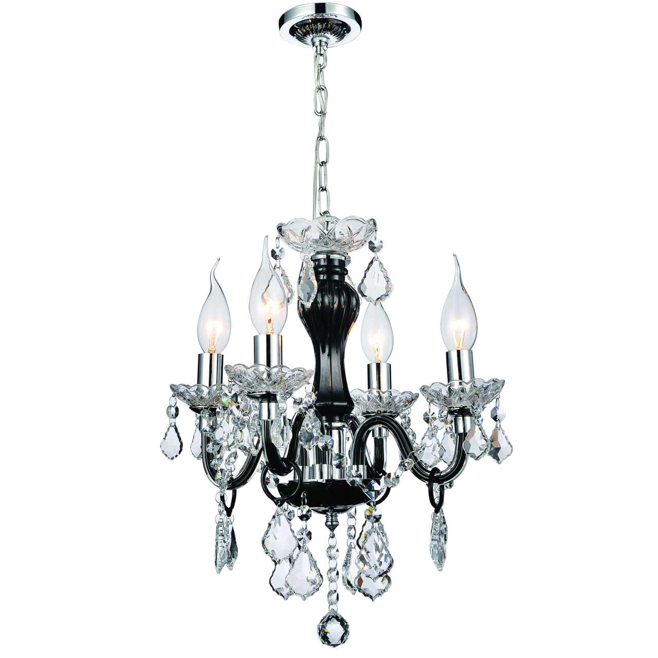 Brizzo lighting stores 14 victorian traditional crystal round mini picture of 14 victorian traditional crystal round mini chandelier jet black frame clear plates and arubaitofo Images