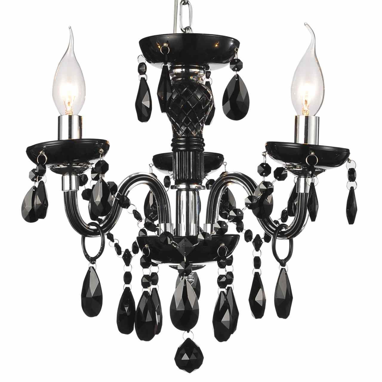 Brizzo lighting stores 14 victorian traditional crystal round mini picture of 14 victorian traditional crystal round mini chandelier jet black tear drops crystals 3 aloadofball Images