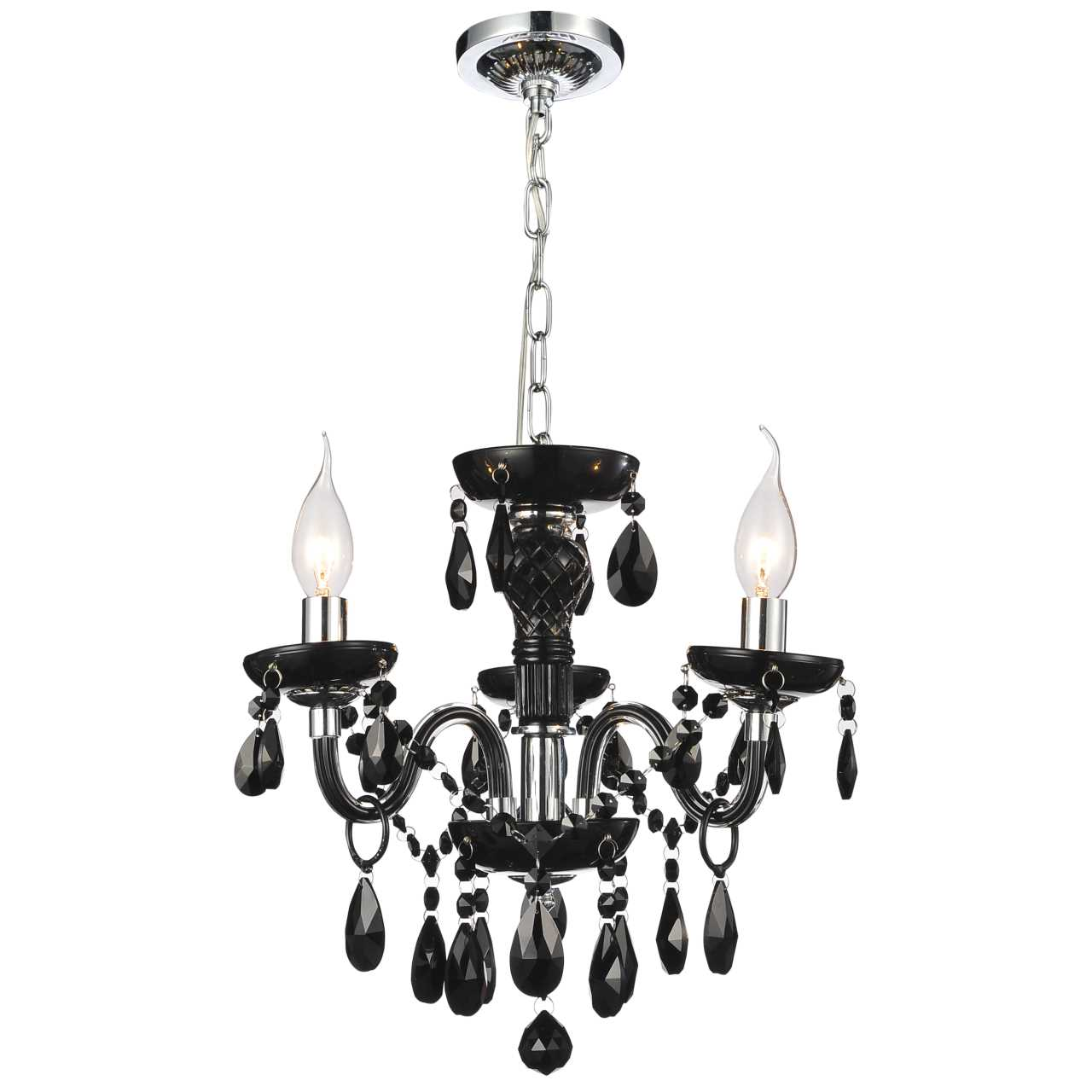 Brizzo lighting stores 14 victorian traditional crystal round mini picture of 14 victorian traditional crystal round mini chandelier jet black tear drops crystals 3 aloadofball Gallery