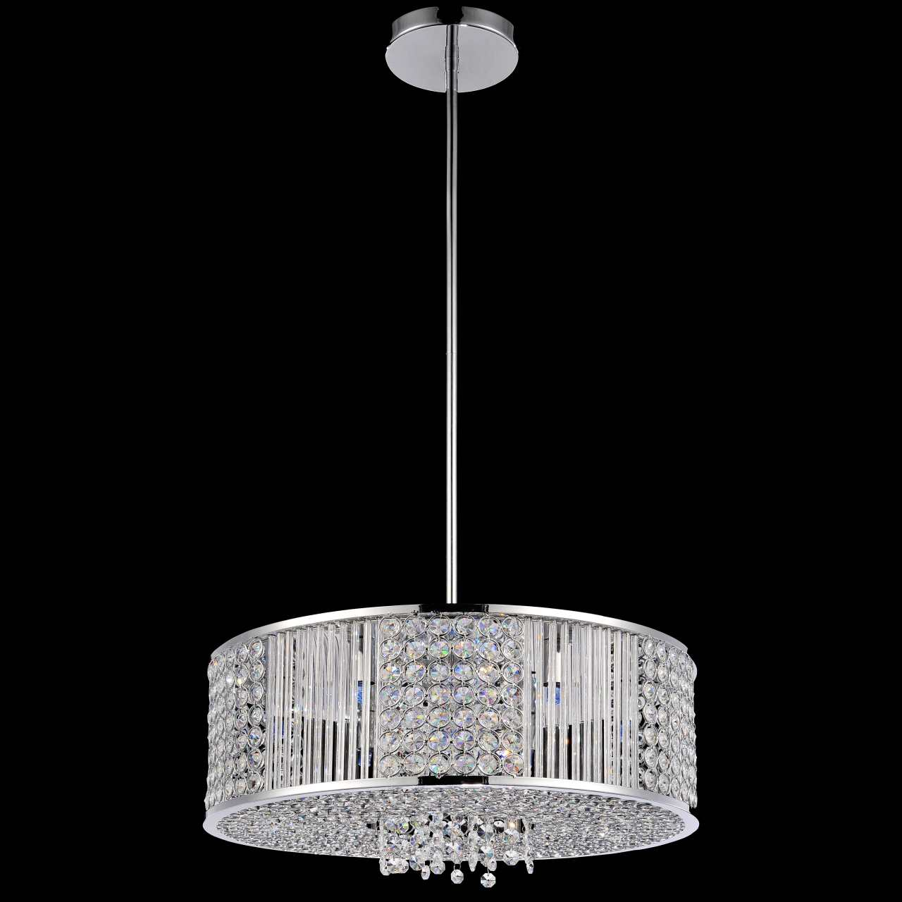 Brizzo lighting stores 16 cristallo modern crystal round pendant picture of 16 cristallo modern crystal round pendant chandelier polished chrome 6 lights mozeypictures Gallery