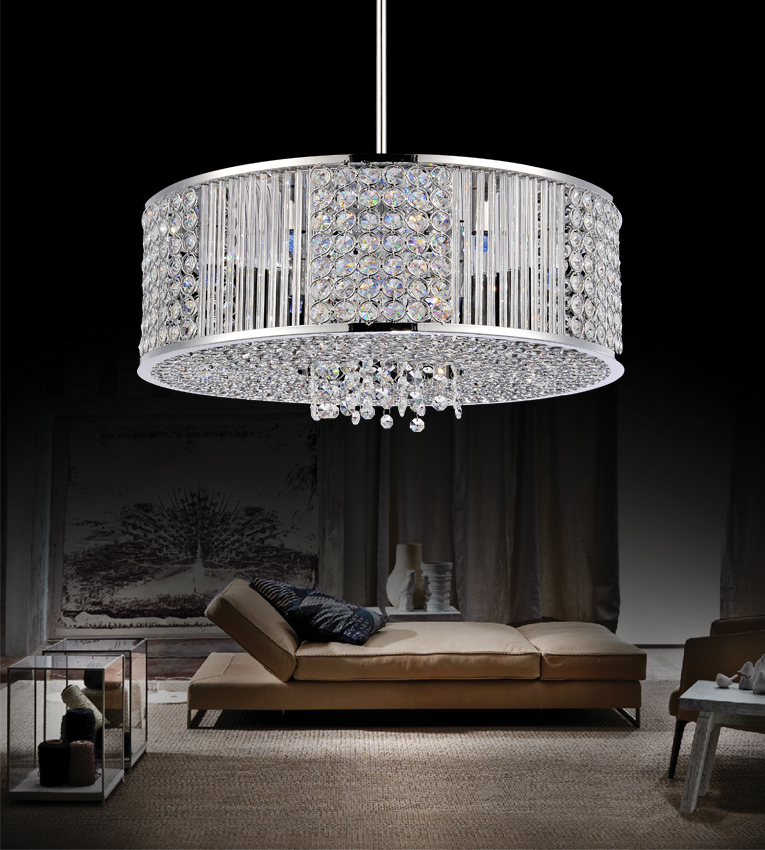 ... Picture of 16  Cristallo Modern Crystal Round Pendant Chandelier Polished Chrome 6 Lights & Brizzo Lighting Stores. 16