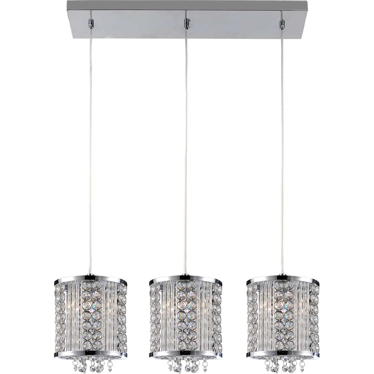 Brizzo lighting stores 28 cristallo modern crystal linear mini picture of 28 cristallo modern crystal linear mini pendants on rectangular platform polished chrome mozeypictures