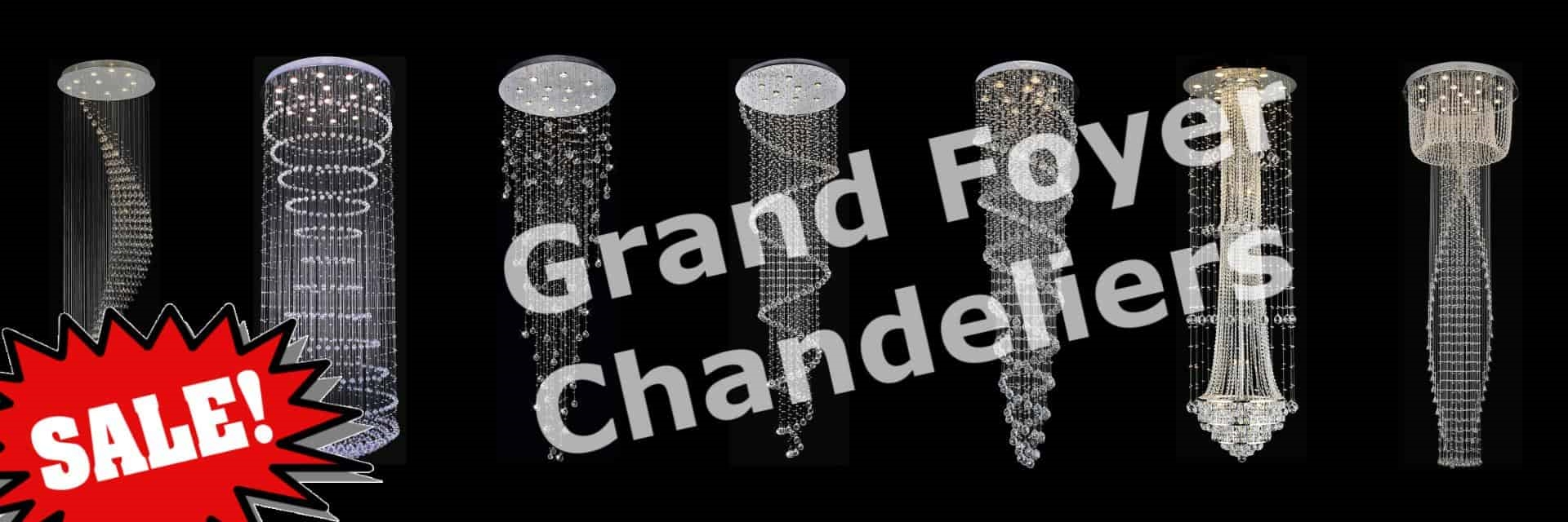 Crystal Grand Foyer Chandeliers. Extra Large Size. Staircase Chandeliers