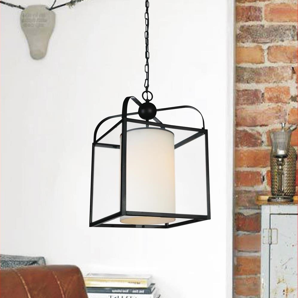 Brizzo Lighting Stores 17 Quot Lantern Contemporary Rubbed Brown Iron Overiszed Square Pendant 1 Light