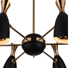 """Picture of 43"""" 12 Light Down Chandelier with Matte Black & Satin Gold finish"""