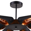 "Picture of 43"" 6 Light  Chandelier with Matte Black finish"