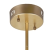 """Picture of 14"""" 8 Light  Pendant with Satin Gold finish"""