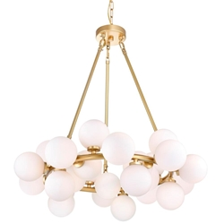 """26"""" 25 Light  Chandelier with Satin Gold finish"""