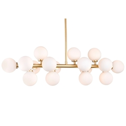 """36"""" 16 Light  Chandelier with Satin Gold finish"""