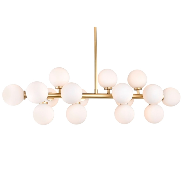 "Picture of 36"" 16 Light  Chandelier with Satin Gold finish"
