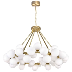 """39"""" 45 Light  Chandelier with Satin Gold finish"""