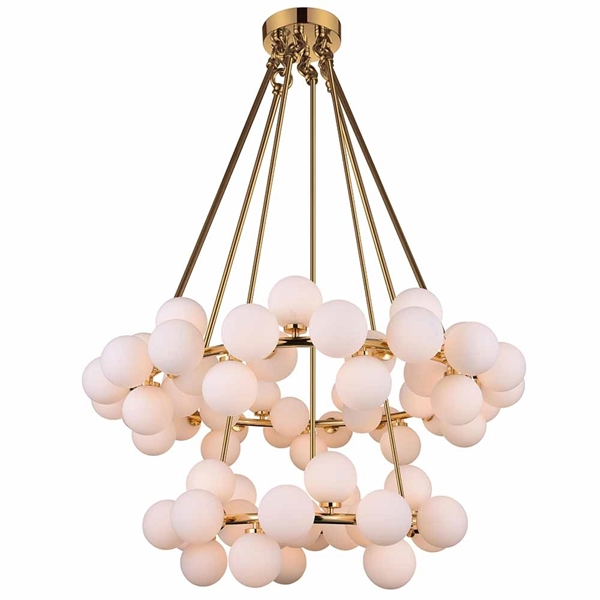 """Picture of 42"""" 70 Light  Chandelier with Satin Gold finish"""