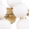"Picture of 18"" 8 Light Wall Sconce with Satin Gold finish"