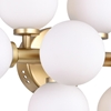 """Picture of 18"""" 8 Light Wall Sconce with Satin Gold finish"""