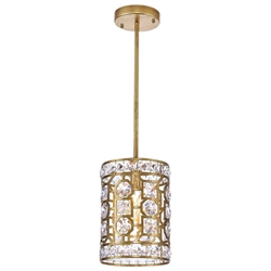 "10"" 1 Light Pendant with Champagne Finish"