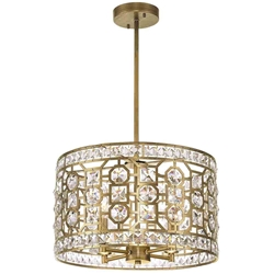 "16"" 4 Light Chandelier with Champagne Finish"
