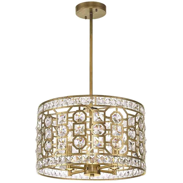 "Picture of 16"" 4 Light Chandelier with Champagne Finish"