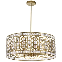 "23"" 6 Light Chandelier with Champagne Finish"