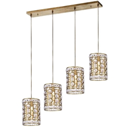 "37"" 4 Light Chandelier with Champagne Finish"