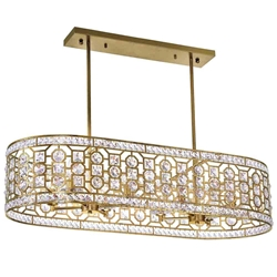 "41"" 8 Light Chandelier with Champagne Finish"