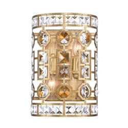 "12"" 2 Light Wall Sconce with Champagne Finish"