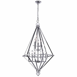 "44"" 9 Light Chandelier with Chrome Finish"