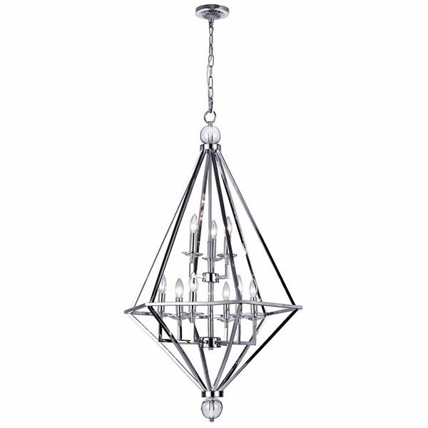 "Picture of 44"" 9 Light Chandelier with Chrome Finish"