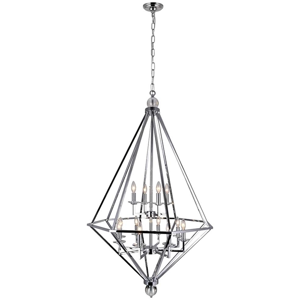 "Picture of 54"" 12 Light Chandelier with Chrome Finish"