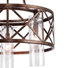 "Picture of 24"" 3 Light Chandelier with Wood Grain Bronze Finish"