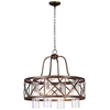 "Picture of 24"" 4 Light Chandelier with Wood Grain Bronze Finish"