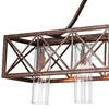 "Picture of 47"" 5 Light Chandelier with Wood Grain Bronze Finish"