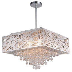 """18"""" 9 Light Chandelier with Chrome Finish"""