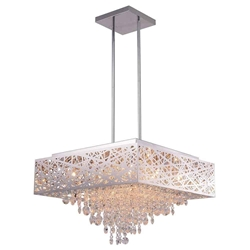 """22"""" 12 Light Chandelier with Chrome Finish"""