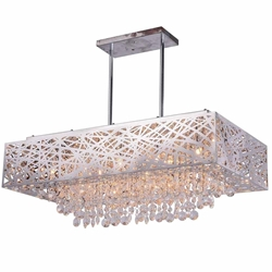 """31"""" 12 Light Chandelier with Chrome Finish"""