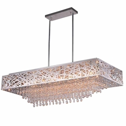 """39"""" 14 Light Chandelier with Chrome Finish"""