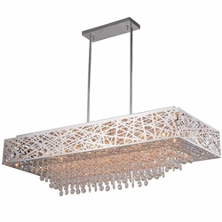 """46"""" 16 Light Chandelier with Chrome Finish"""