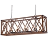 "Picture of 51"" 8 Light Chandelier with Wood Grain Brown Finish"