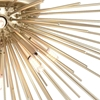 "Picture of 20"" 6 Light Flush Mount with Gold Leaf Finish"