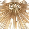 """Picture of 40"""" 8 Light Flush Mount with Gold Leaf Finish"""
