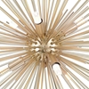 "Picture of 16"" 6 Light Chandelier with Gold Leaf Finish"