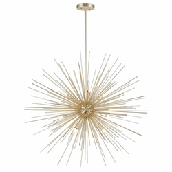 "30"" 9 Light Chandelier with Gold Leaf Finish"