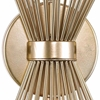 """Picture of 20"""" 2 Light Wall Sconce with Gold Leaf Finish"""
