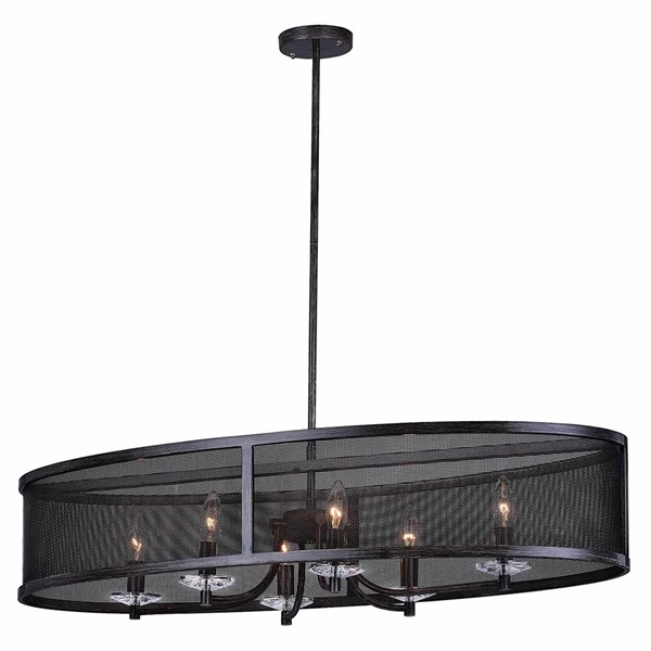 "Picture of 36"" 6 Light Chandelier with Black Finish"