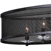 """Picture of 36"""" 6 Light Chandelier with Black Finish"""