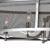 "Picture of 36"" 6 Light Chandelier with Satin Nickle Finish"